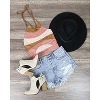 Cotton Candy LA - Multi Color Suedette Crop Top