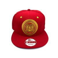 New Era x Secret Society Gold Platform Eye Logo Snapback Hat Red Gold