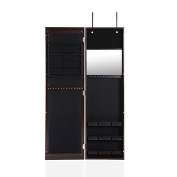 Mirrored Hanging Over the Door Jewelry Armoire Cabinet Wall Mounted Jewelry Storage Box Organizer Jewelry Display SM6