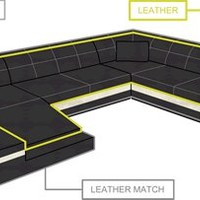 Two Piece Curved Sectional, Curved Sectional Sofa | Opulent Items - Opulentitems.com