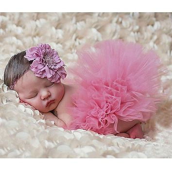 Infant Baby born Photography Props Costume Photo Props For Baby Photography Accessories Pink Tutu Skirts Set