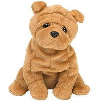 TY Beanie Baby - CRINKLES the Dog