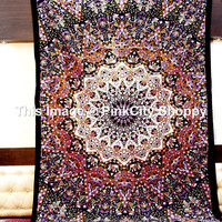 Twin Cotton Tapestry Hippie Wall Hanging Star Mandala tapestry wall art Bedspread Bed Cover Indian Bohemian Boho Ethnic Home Decor Art