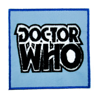 Doctor Who Patch Iron On Applique Alternative British TV Show
