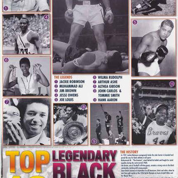Black Sports Figures History Poster 24x36