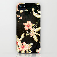 VINTAGE FLOWERS III - for iphone iPhone & iPod Case by Simone Morana Cyla