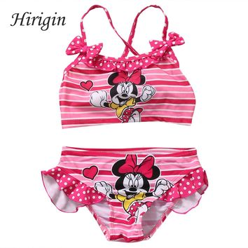 Hirigin 2017 2pcs Set Toddler Kids Baby Girls Tankini Bikini Swimwear Swimsuit Bathing Suit Beachwear Swiming Clothes 2-7Y SS