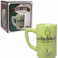 Wake + Bake Ceramic Coffee Mug - LAST ONE!