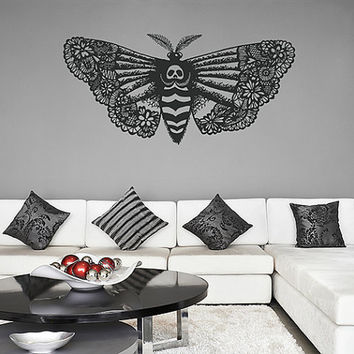 kik1124 Wall Decal Sticker death's-head moth butterfly living room bedroom