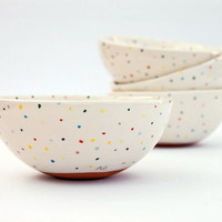 Terracotta serving bowl, cereal bowl