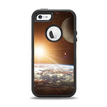 The Earth, Moon and Sun Space Scene Apple iPhone 5-5s Otterbox Defender Case Skin Set