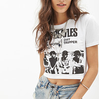 FOREVER 21 The Beatles Graphic Tee White/Black