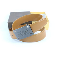 Louis Vuitton Woman Men Fashion Smooth Buckle Belt Leather Belt Skin Belts LV Beltt378