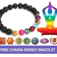 """FREE"" Chakra Energy Bracelet ( Just Pay Shipping )"