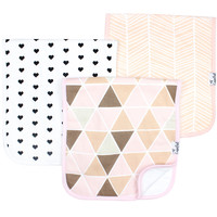 Premium Burp Cloths - Blush