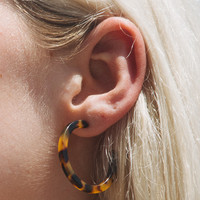 Tortoise Shell Hoops - Jewelry - Accessories
