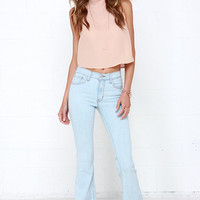 Friends Flare-ever Light Wash High-Waisted Flare Jeans