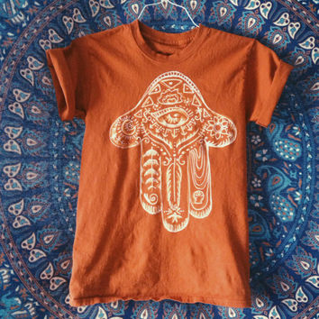 SALE Paisley Hamsa shirt-  made to order