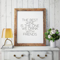 Kitchen Decor,Typography Print,Wine Quote,Drink Sign,Bar Decor,Printable,Restaurant Decor,BUT FIRS WINE Quote Prints,Inspirational Quote