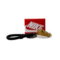 3D Sneaker Keychain- Nike Air More Uptempo 'Suptembo' Metallic Gold Pair