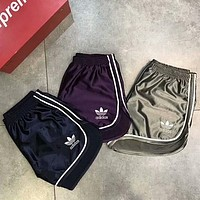 Adidas New fashion summer embroidery letter leisure sports women shorts three color