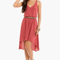 Birds of a Feather Belted Dress $38