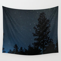 Star Tapestry, Night Tapestry, Blue Tapestry Wall Hanging, Sky Tapestry, Space Tapestry, Nature Tapestry, Tree Tapestry, Forest Tapestry
