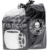 """""""Fisticup x Death Wish Coffee Co."""" Mug Gift Set by Inked (Black)"""