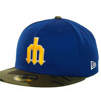 Seattle Mariners MLB Team Camo 59FIFTY Cap