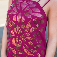 Wine Down Tank, Maroon