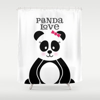 Panda Love Shower Curtain by Noonday Design