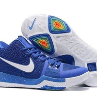 DCCKL8A Jacklish 2017 Nike Kyrie 3 Royal Blue-white On Sale