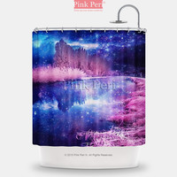 Infrared Photography Galaxy Shower Curtain Home & Living Bathroom 073