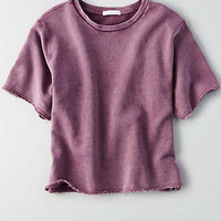 Don't Ask Why Raw Edge T-Shirt, Purple
