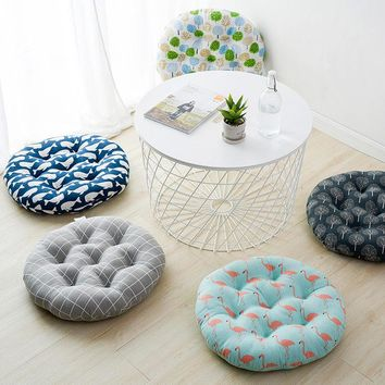 KAYIYO 40X40CM Soft Chair Pillow Comfortable Home Office Decor Round Cotton Seat Cushion Pillow Buttocks Chair Cushion