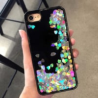 Iridescent Hearts iPhone Cover