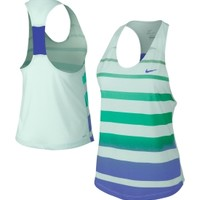 Nike Women's Dri-FIT Cotton Stripe Tennis Tank Top
