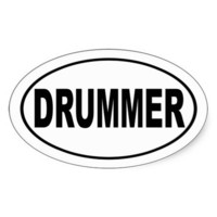Drummer Bumper Sticker from Zazzle.com