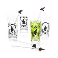 Witch Hat Glass Swizzle Sticks Set of 4