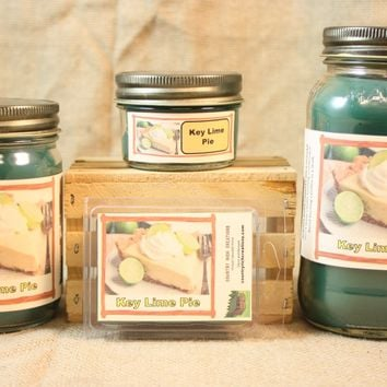 Key Lime Pie Candle and Wax Melts, Bakery Scent Candle, Highly Scented Candles and Wax Tarts, Dessert Candle, Mason Jar Candle, Hostess Gift