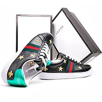 GUCCI Woman Fashion Embroidery Flats Shoes Sneakers Sport Shoes