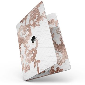 """Rose Gold Lace Pattern 10 - 13"""" MacBook Pro without Touch Bar Skin Kit"""