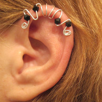 No Piercing Symphony Ear Cuff for Cartilage Helix Handmade 1 Cuff Color Choices