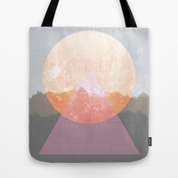 Landscape Abstract 3 Tote Bag by Mareike Böhmer Graphics