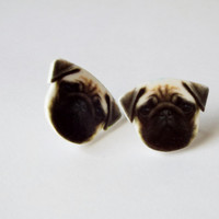 Pug Earrings Fun Novelty Gift for Dog Lovers