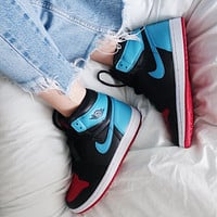 Nike Air Jordan 1 High OG UNC To Chicago Sneakers Shoes