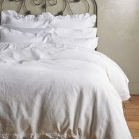 Peacock Alley Penelope Duvet by Peacock Alley in White