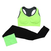 Women Seamless Sports Bra+Pants Leggings Set Yoga Fitness Running Gym Training Exercise Tracksuit Accessories 2pcs