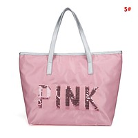 Victoria Pink Fashion New Letter Print Women Men Leisure Shopping Travel Handbag Shoulder Bag 5#