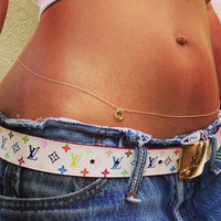 Bad Girl Belly Chain, Handcuff Belly Chain, Gold Belly Chain,